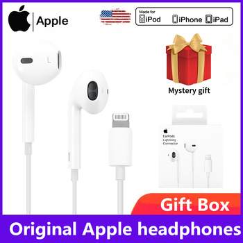 Originalus Apple Earpods 3.5 mm Plug & LightningEarphones iPhone 6 8 Plus X 11 iPhone12 laisvų Rankų įranga